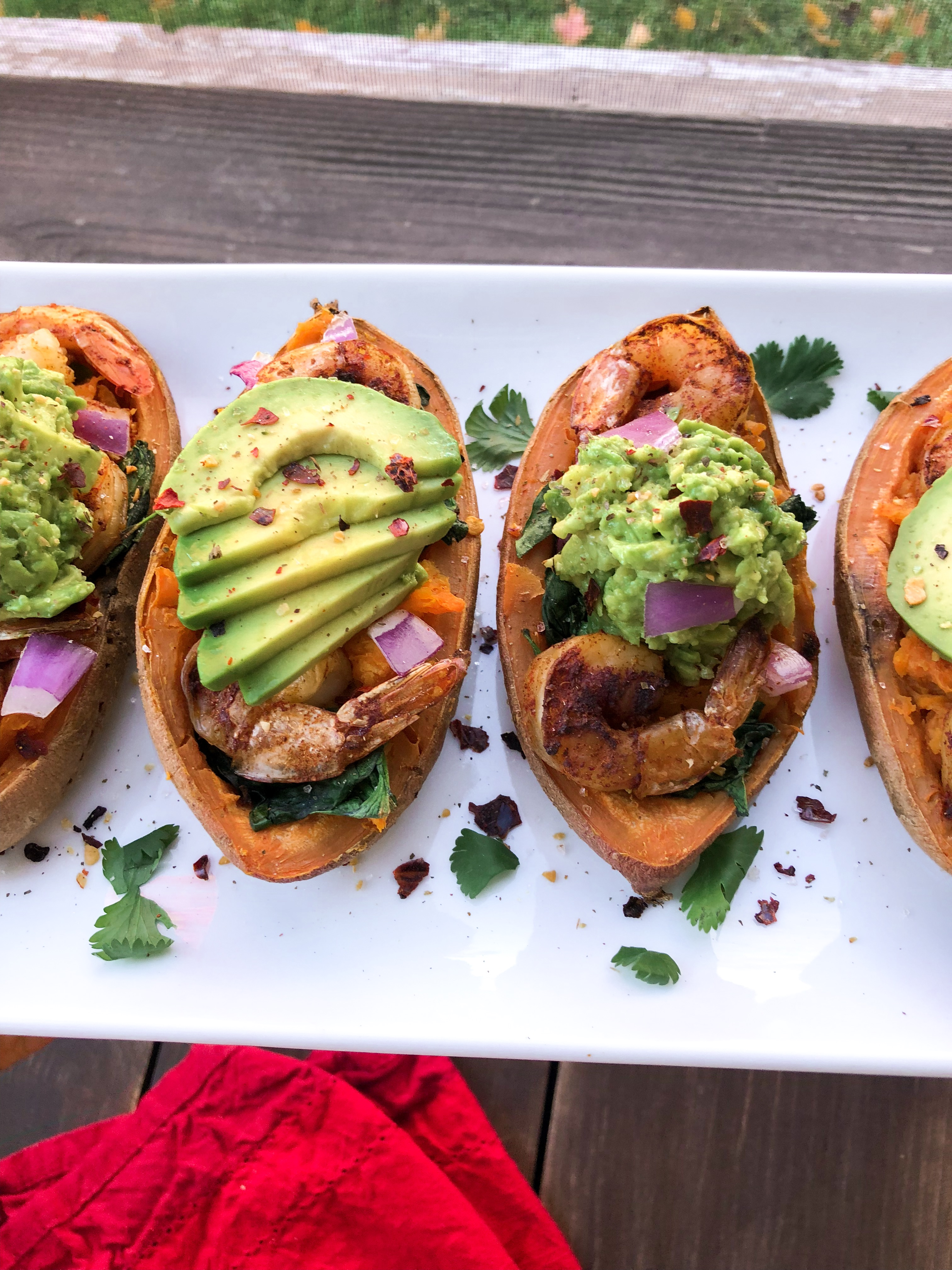 Shrimp Stuffed Sweet Potatoes Choosing Balance