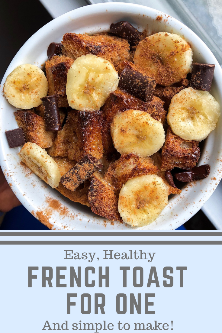 How to make sweet french toast for one